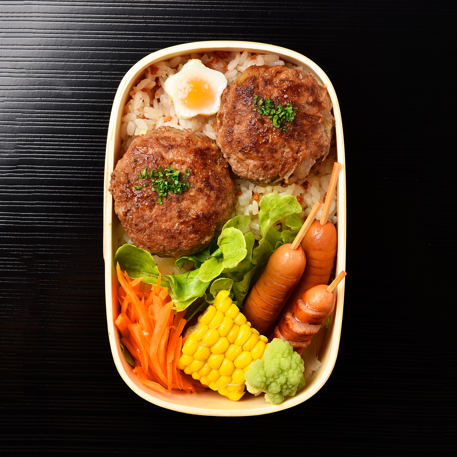 Japanese-style Hamburger Steak Bento