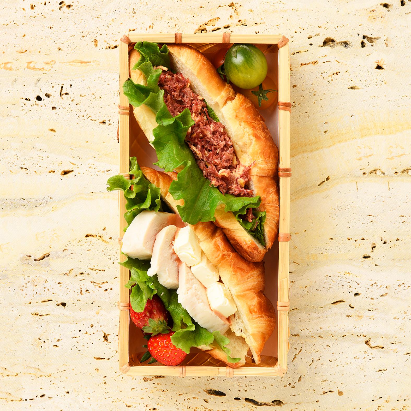 Croissant Sandwiches Bento